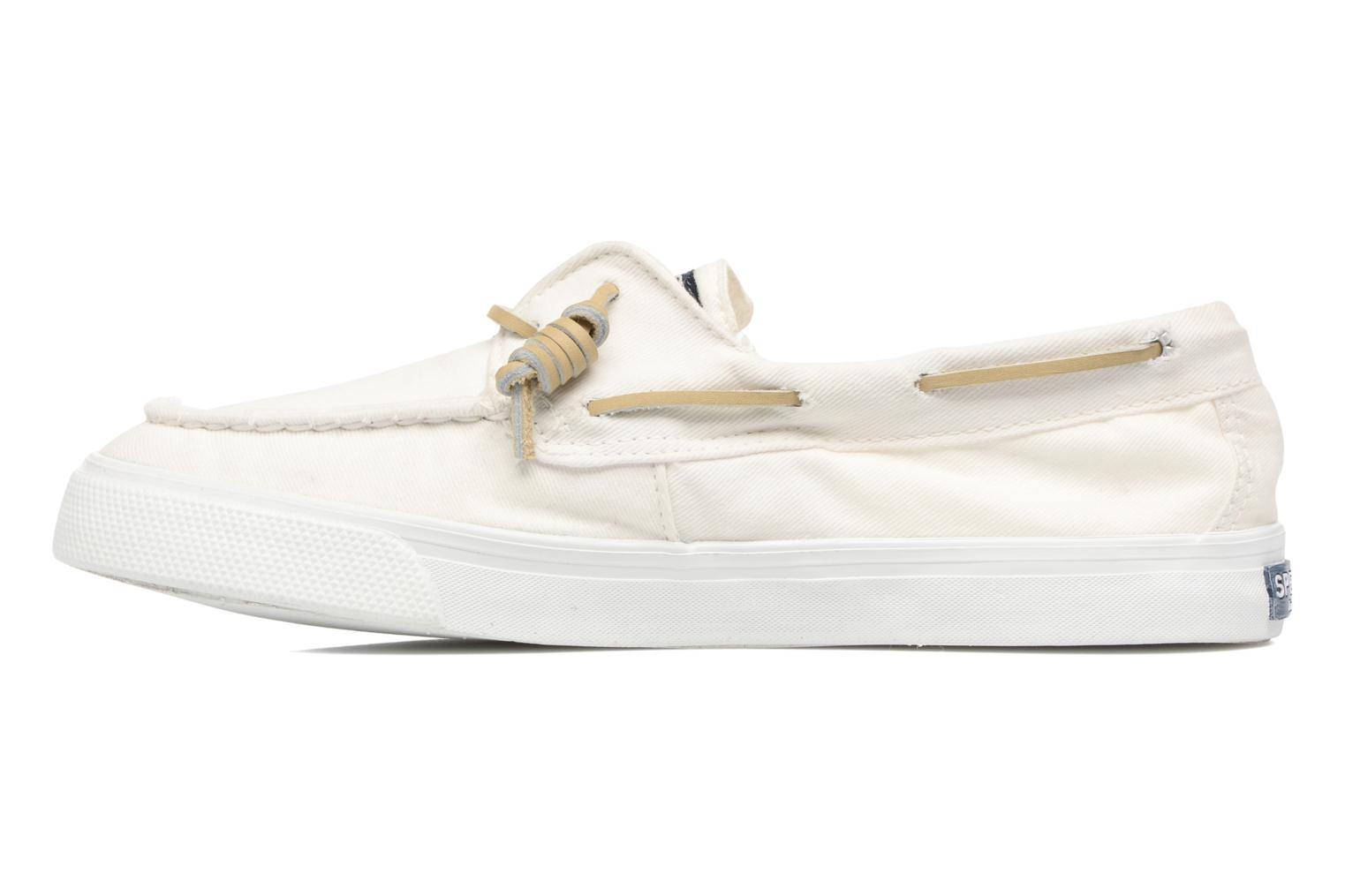Baskets Sperry Bahama Washed Blanc vue face