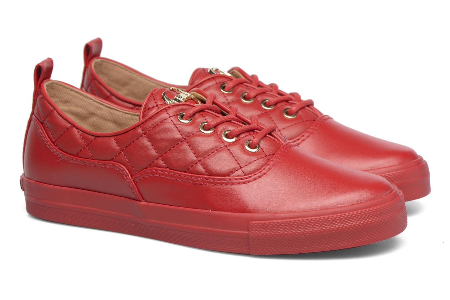 Sneakers Love Moschino Superquilted Sneaker Rood 3/4'