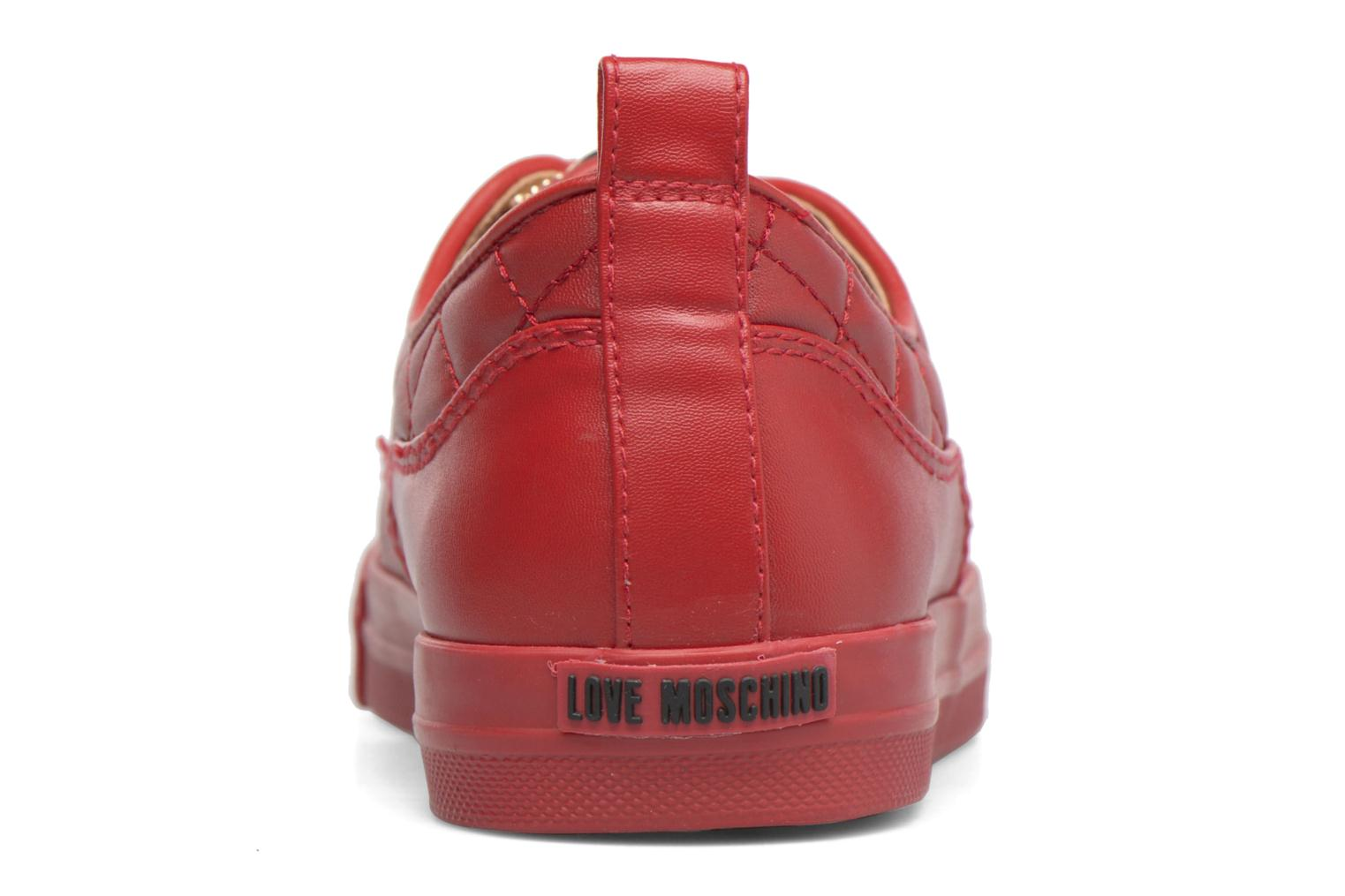 Trainers Love Moschino Superquilted Sneaker Red view from the right