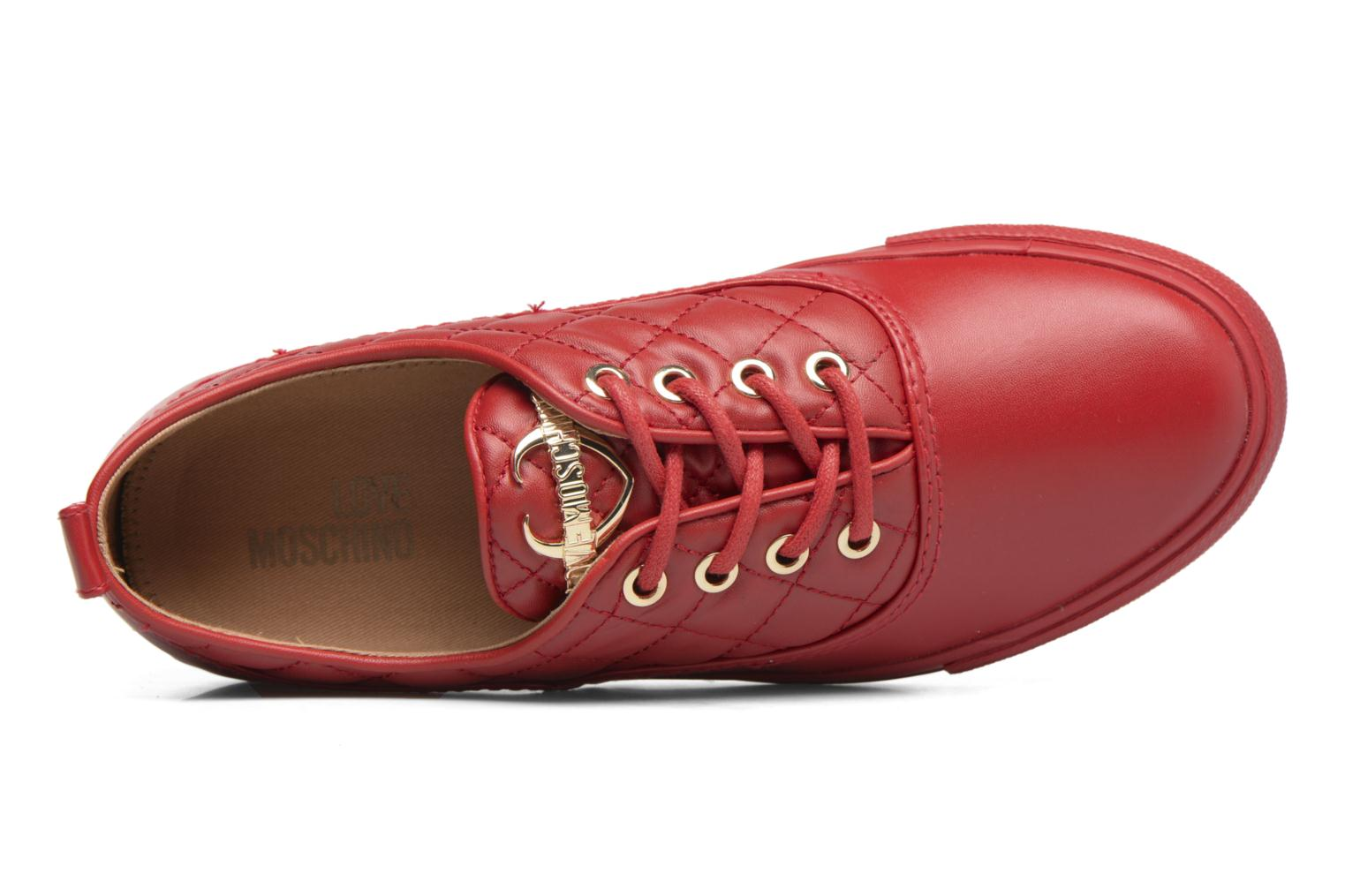 Trainers Love Moschino Superquilted Sneaker Red view from the left