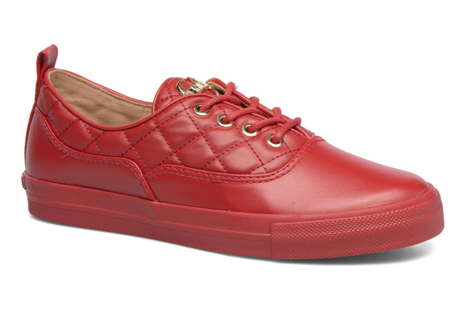 Trainers Love Moschino Superquilted Sneaker Red detailed view/ Pair view