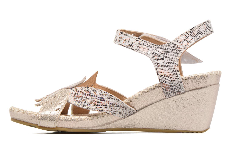 Sandales et nu-pieds Laura Vita Sari Or et bronze vue face