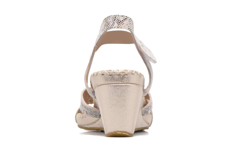 Sandales et nu-pieds Laura Vita Sari Or et bronze vue droite