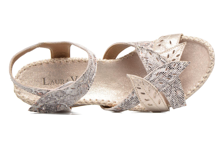 Sandales et nu-pieds Laura Vita Sari Or et bronze vue gauche