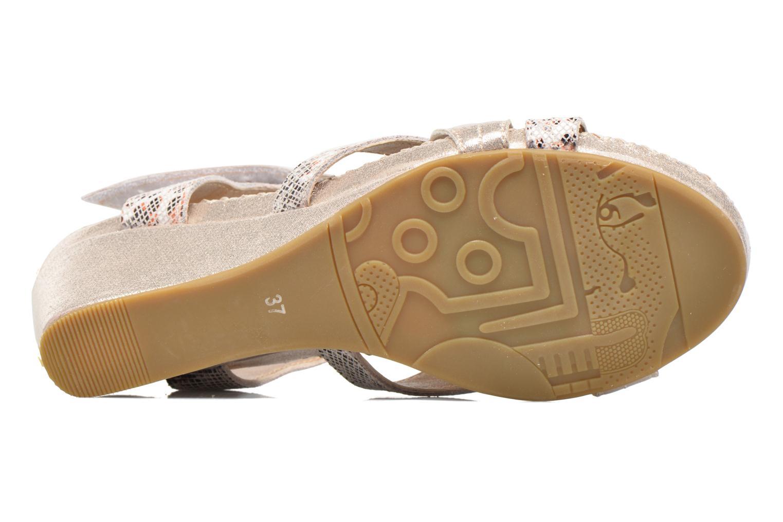 Sandales et nu-pieds Laura Vita Sari Or et bronze vue haut