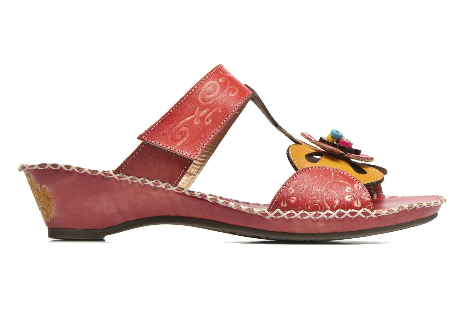 Mules & clogs Laura Vita Scotch Red back view
