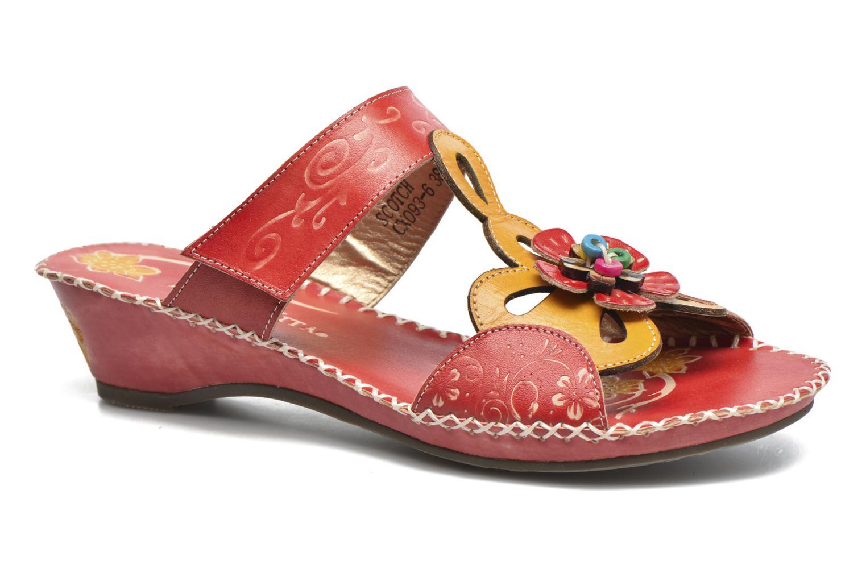 Clogs & Pantoletten Laura Vita Scotch rot detaillierte ansicht/modell