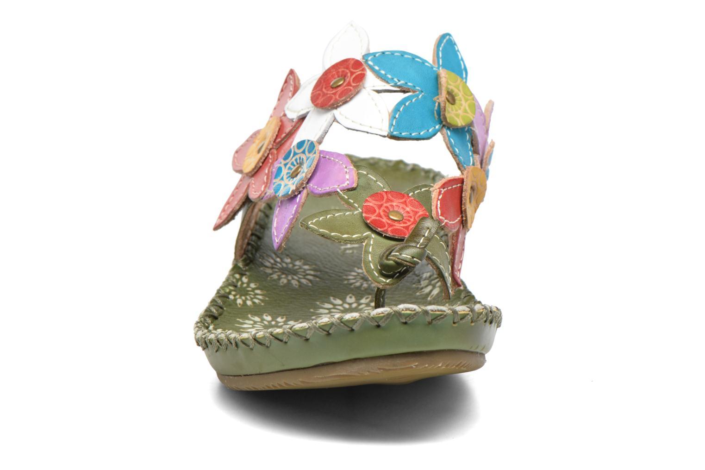 Mules et sabots Laura Vita Self Vert vue portées chaussures