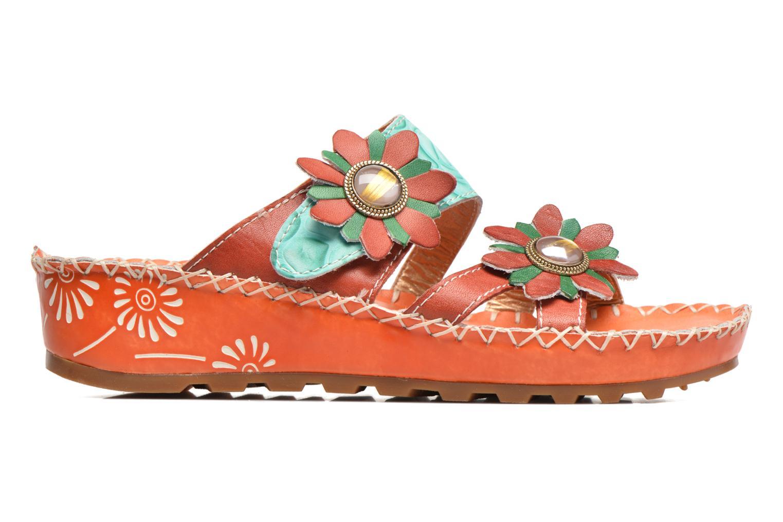 Sandales et nu-pieds Laura Vita Valette Orange vue derrière