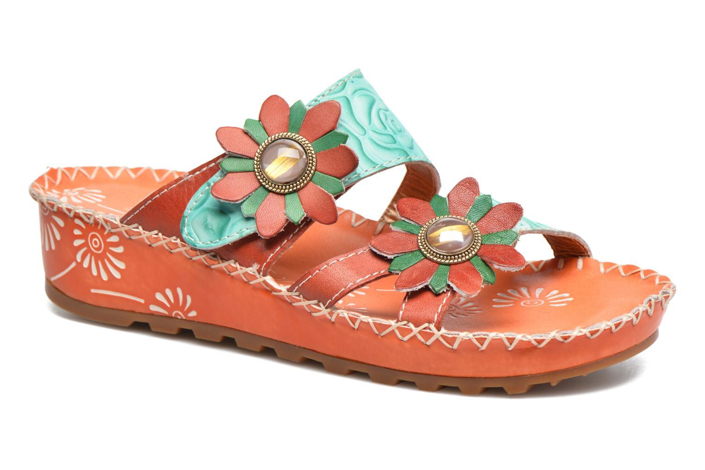 Sandales et nu-pieds Laura Vita Valette Orange vue détail/paire