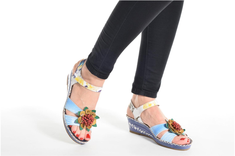 Sandales et nu-pieds Laura Vita Valmon Bleu vue bas / vue portée sac
