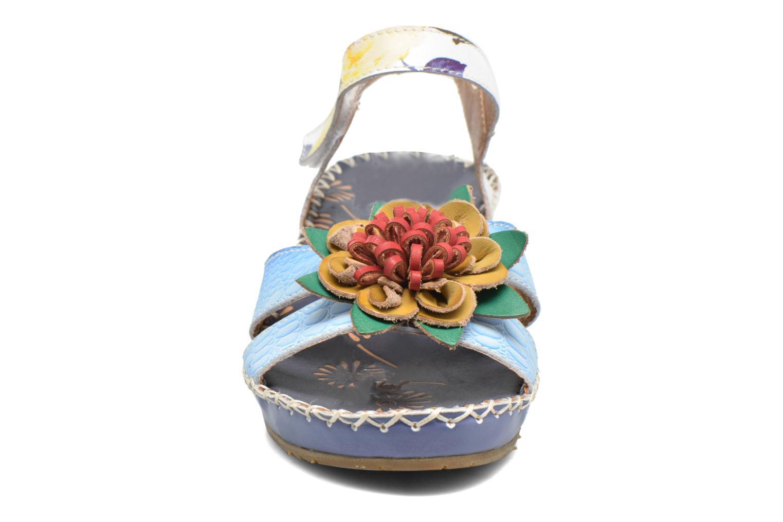 Sandalen Laura Vita Valmon blau schuhe getragen