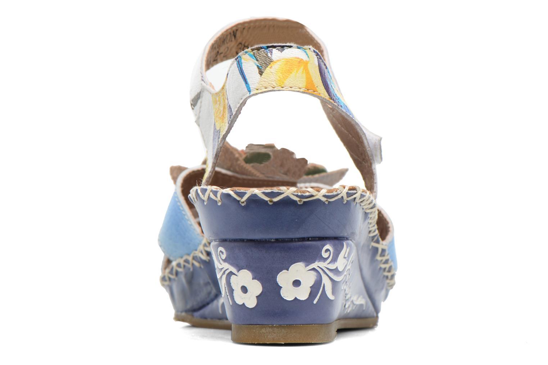 Sandalen Laura Vita Valmon blau ansicht von rechts