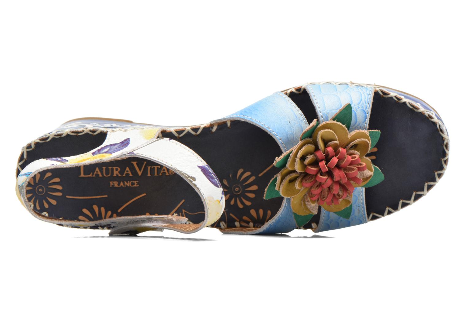 Sandals Laura Vita Valmon Blue view from the left