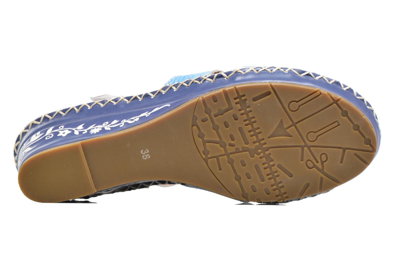 Sandalen Laura Vita Valmon blau ansicht von oben