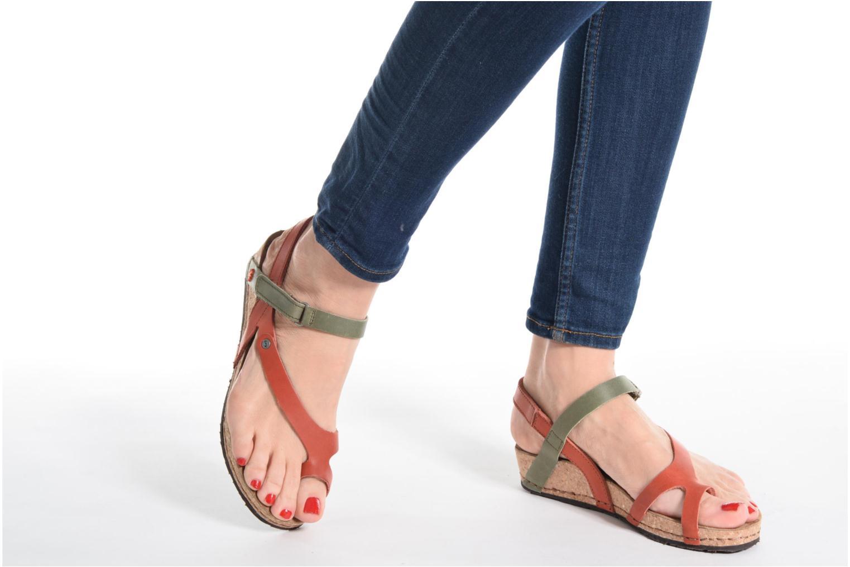 Sandales et nu-pieds Art Pompei 737 Jaune vue bas / vue portée sac
