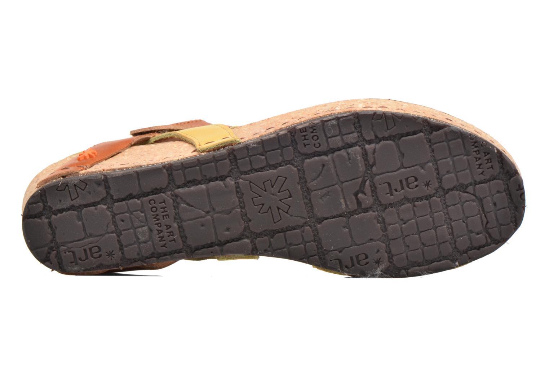 Sandales et nu-pieds Art Pompei 737 Jaune vue haut