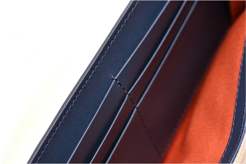 Wallets & cases Le Tanneur Porte monnaie Lily long 8 cc Blue back view