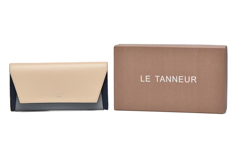 Petite Maroquinerie Le Tanneur Porte monnaie Lily long 8 cc Bleu vue détail/paire
