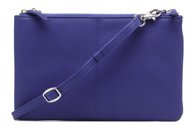 Sacs à main Le Tanneur Pochette double zippée Valentine Bleu vue face