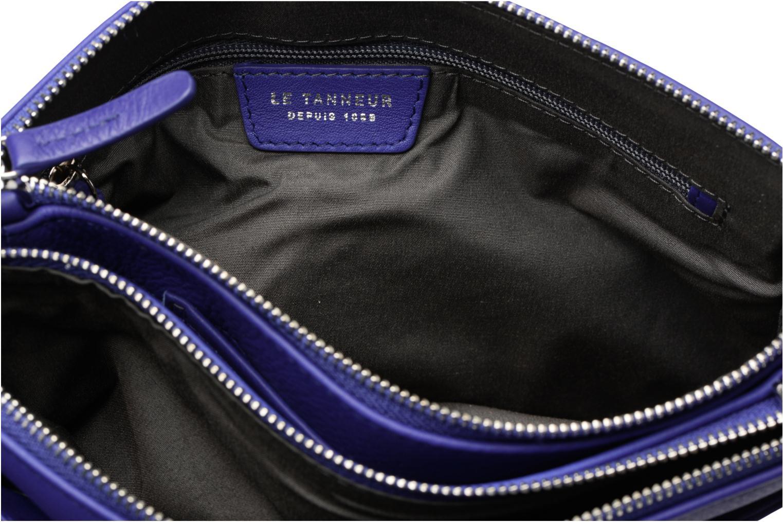 Pochette double zippée Valentine Bleu majorelle