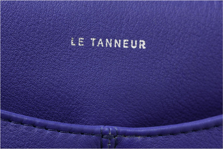 Sacs à main Le Tanneur Pochette double zippée Valentine Bleu vue gauche