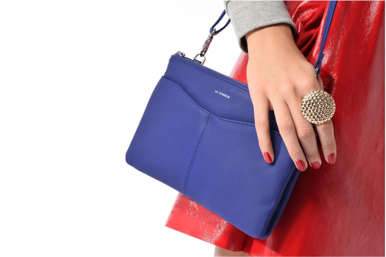 Sacs à main Le Tanneur Pochette double zippée Valentine Bleu vue haut