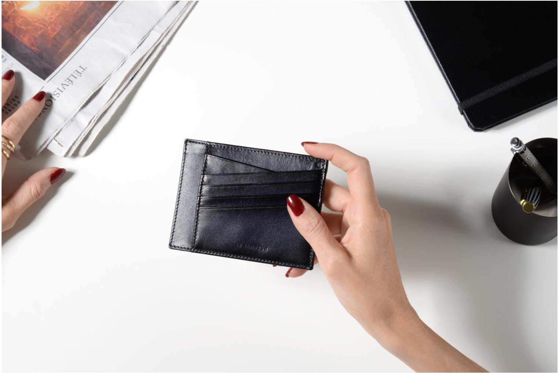 Portemonnaies & Clutches Le Tanneur Porte papiers Corentin 4 poches 5cc anti RFID braun ansicht von oben
