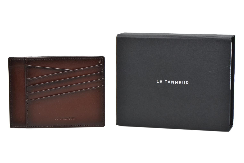 Wallets & cases Le Tanneur Porte papiers Corentin 4 poches 5cc anti RFID Brown detailed view/ Pair view