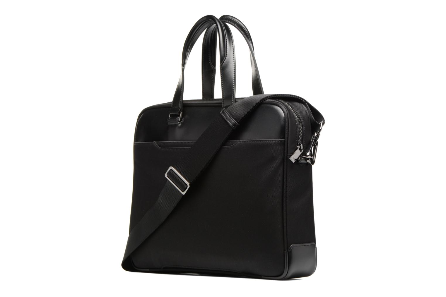 Laptop cases Le Tanneur Porte-documents Cuir Audacieux Black view from the right