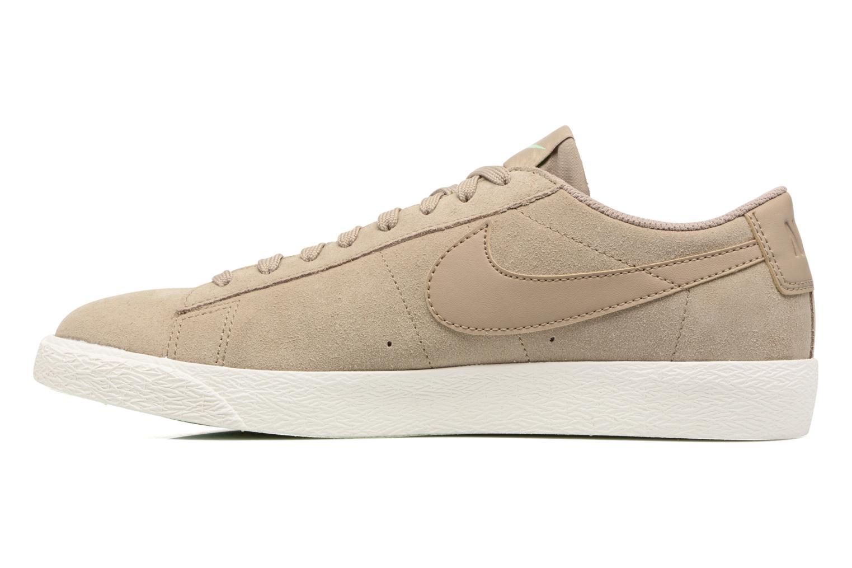 Baskets Nike Blazer Low Beige vue face