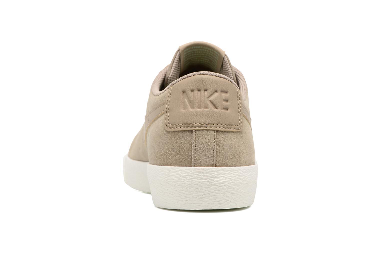 Sneaker Nike Blazer Low beige ansicht von rechts