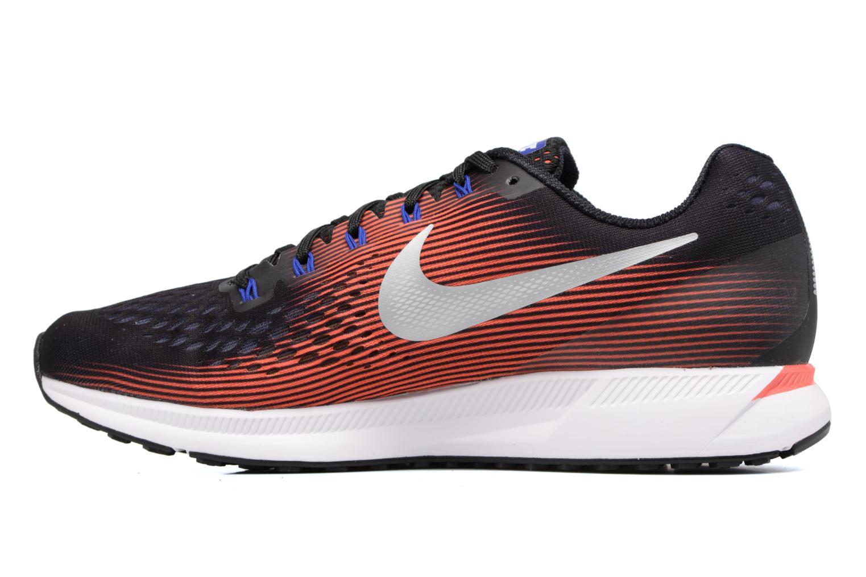 Nike Air Zoom Pegasus 34 Black/Metallic Silver-Bright Crimson