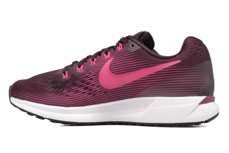 Sportschuhe Nike Wmns Nike Air Zoom Pegasus 34 weinrot ansicht von vorne