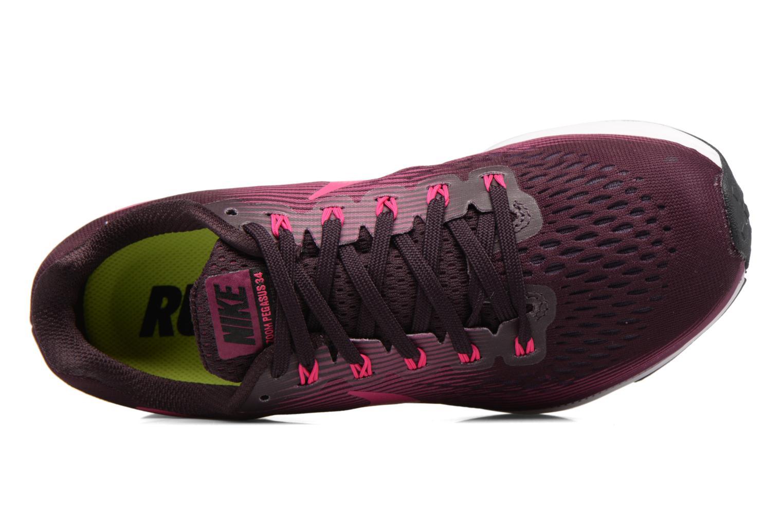 Chaussures de sport Nike Wmns Nike Air Zoom Pegasus 34 Bordeaux vue gauche