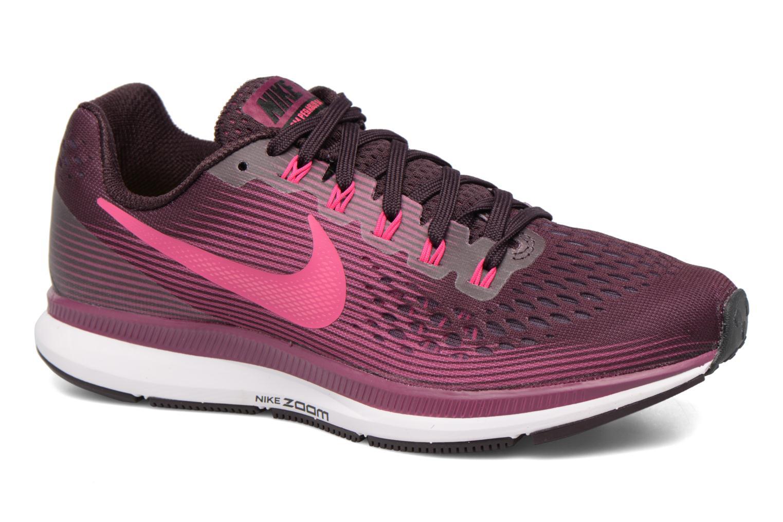 Chaussures de sport Nike Wmns Nike Air Zoom Pegasus 34 Bordeaux vue détail/paire