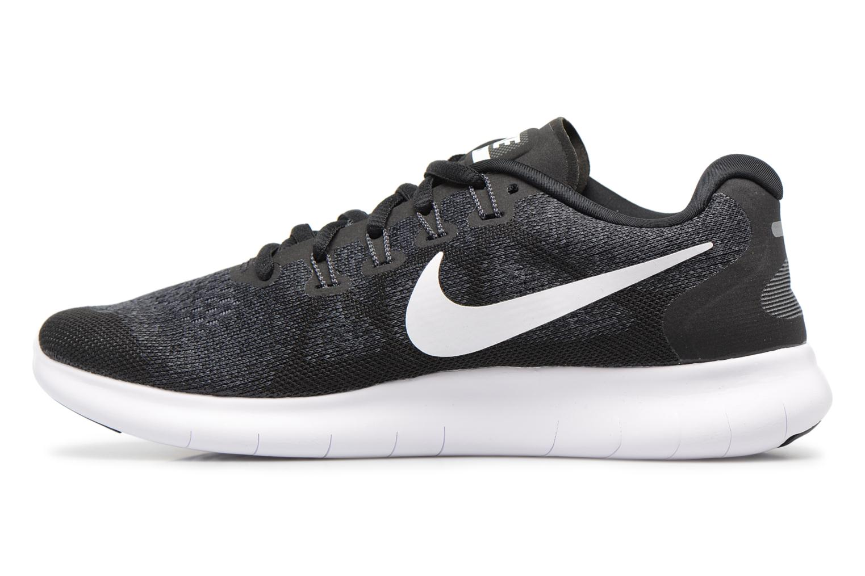 Sportschuhe Nike Wmns Nike Free Rn 2017 schwarz ansicht von vorne