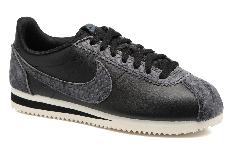 Sneakers Nike Wmns Classic Cortez Prem Zwart detail