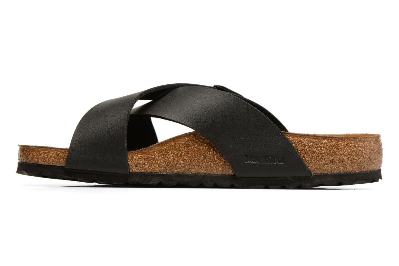 Sandales et nu-pieds Birkenstock Tunis Noir vue face