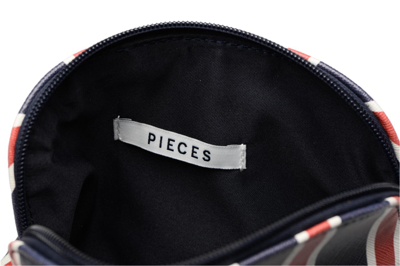 Kleine lederwaren Pieces Liv Make Up Purse Rood achterkant