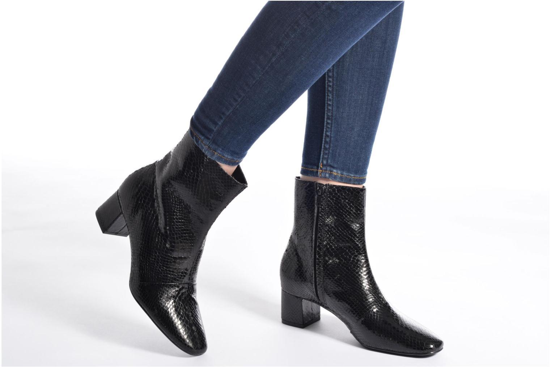 Bottines et boots Pieces Danny Boot Snake Black Noir vue bas / vue portée sac