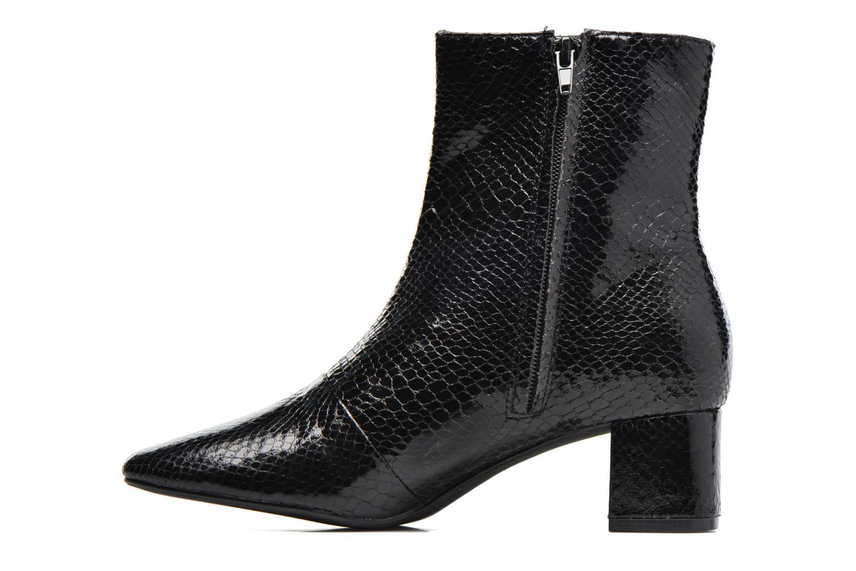 Bottines et boots Pieces Danny Boot Snake Black Noir vue face