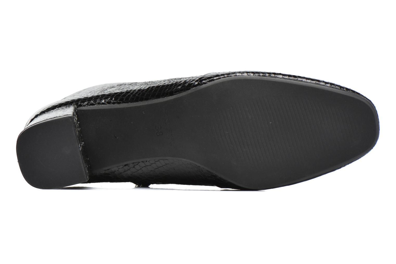 Bottines et boots Pieces Danny Boot Snake Black Noir vue haut