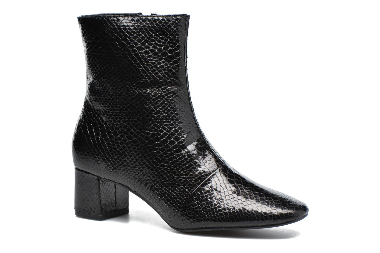 Boots en enkellaarsjes Pieces Danny Boot Snake Black Zwart detail