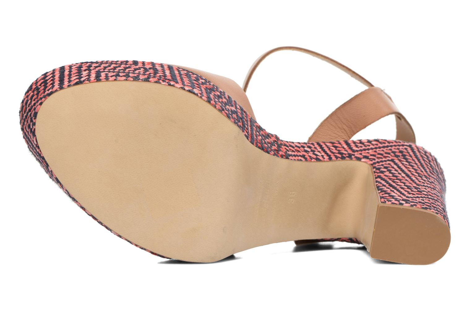 Sandals Elizabeth Stuart Blanche Brown view from above