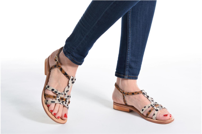 Sandales et nu-pieds Elizabeth Stuart Hoton 685 Beige vue bas / vue portée sac
