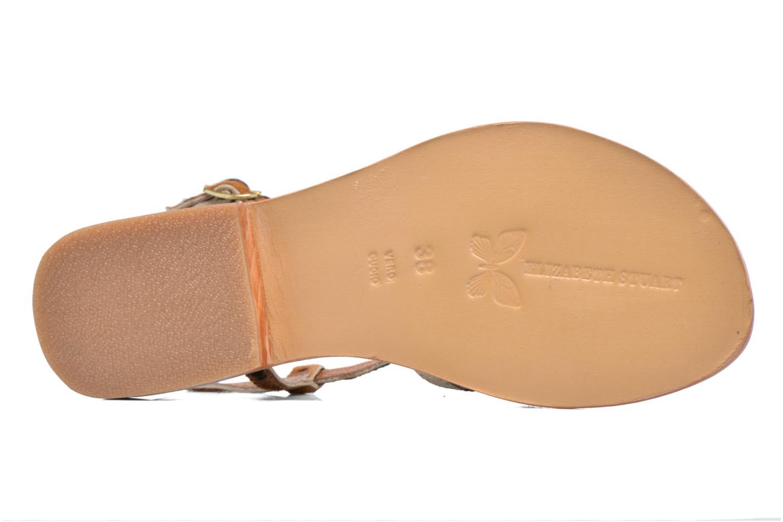 Sandales et nu-pieds Elizabeth Stuart Hoton 685 Beige vue haut