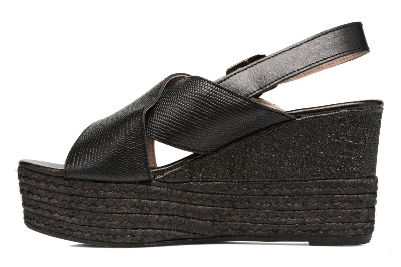 Sandales et nu-pieds Elizabeth Stuart Lotto 859 Noir vue face