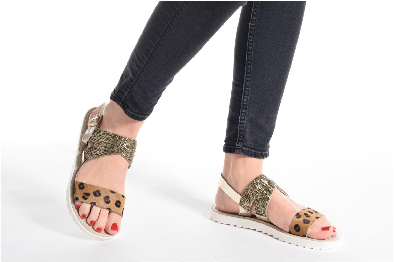Sandales et nu-pieds Elizabeth Stuart Paris 874 Or et bronze vue bas / vue portée sac