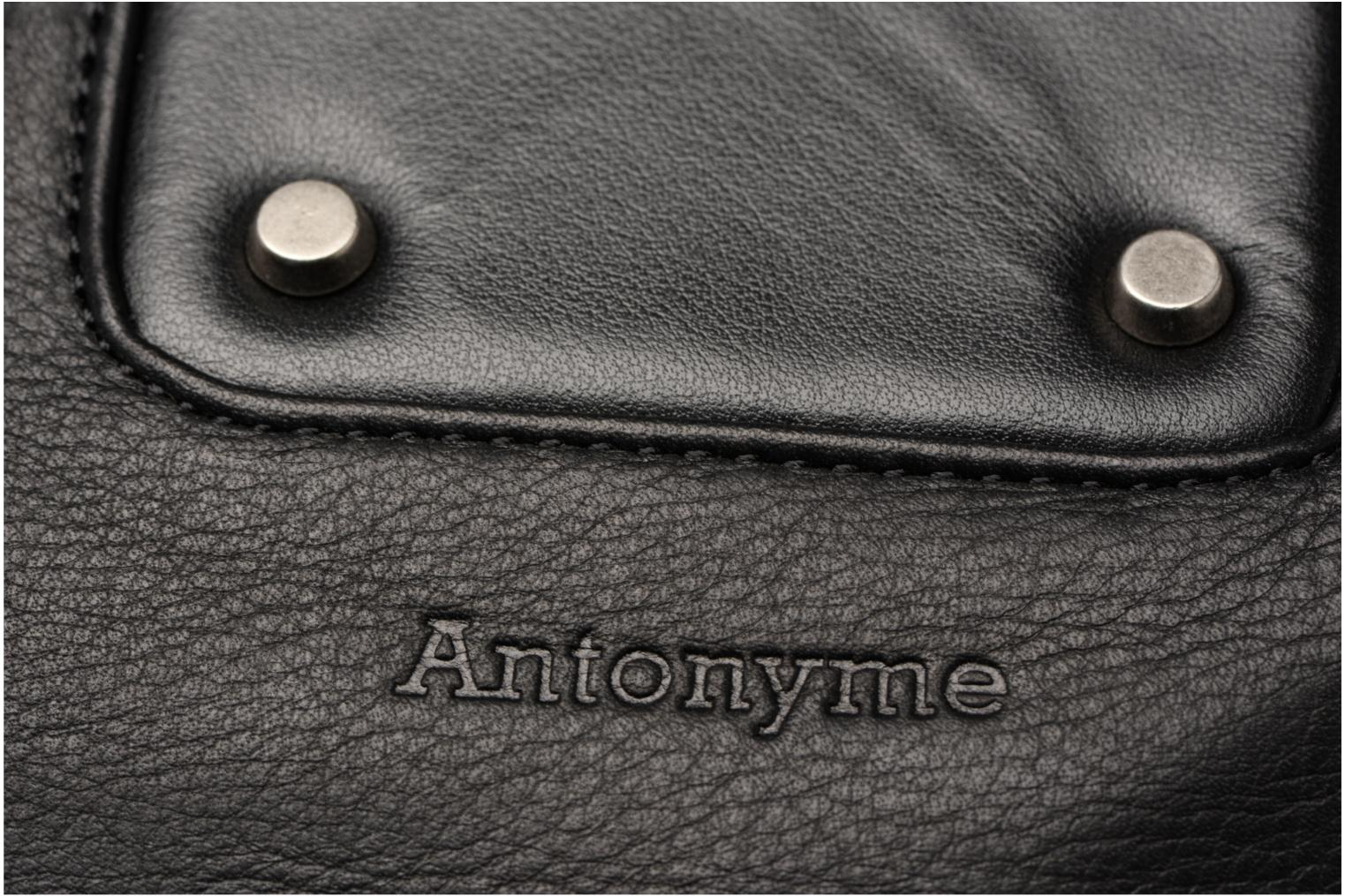 Borse uomo Antonyme by Nat & Nin Porté travers Cuir Lucien Nero immagine sinistra
